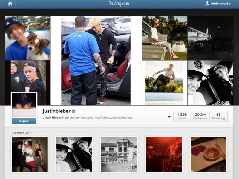 Instagram de Justin Bieber (Reprodução)