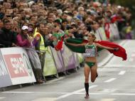 Jessica Augusto medalha de bronze na maratona dos Europeus (Reuters)