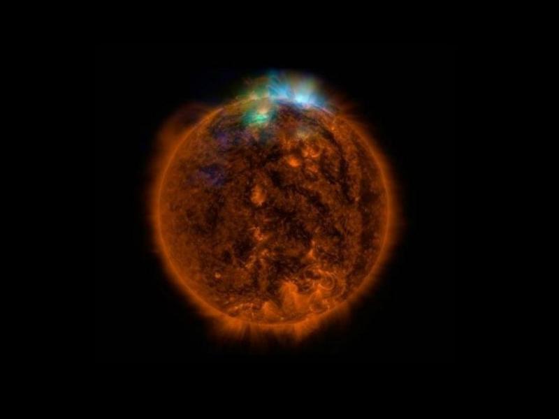Fotografia do Sol enviada pelo NuSTAR da NASA (NuSTAR)