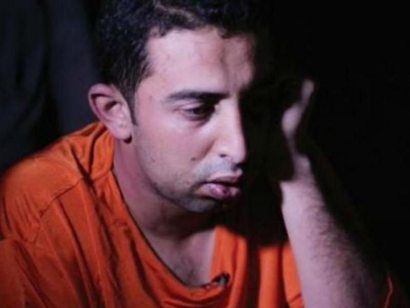 Muaz Kasasbeh, piloto jordano durante «entrevista» na revista «Dabiq»