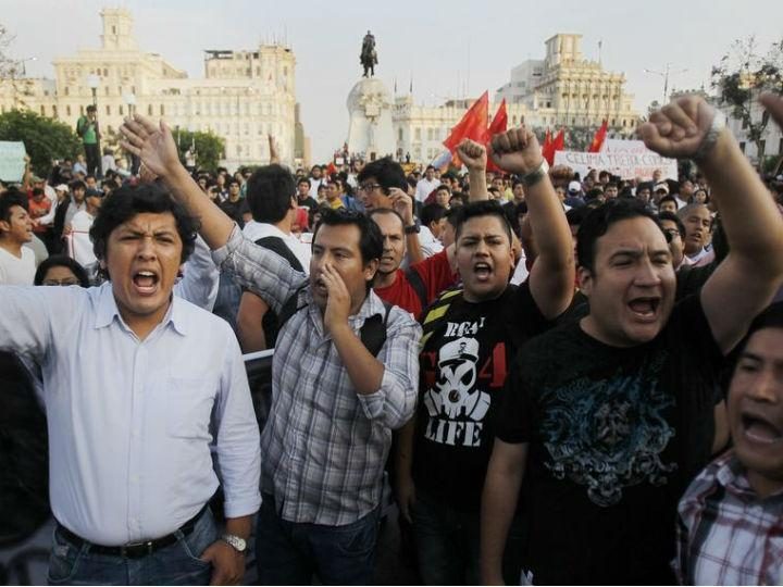 Protestos no Peru (Reuters)