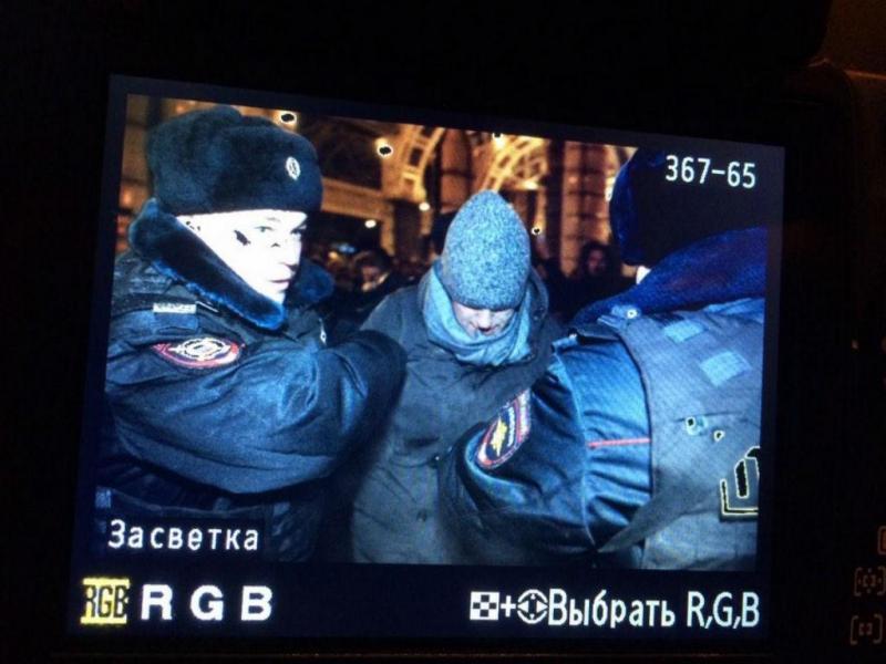 Detenção de Navalny (Reprodução/ Twiiter Anton Belitskiy)