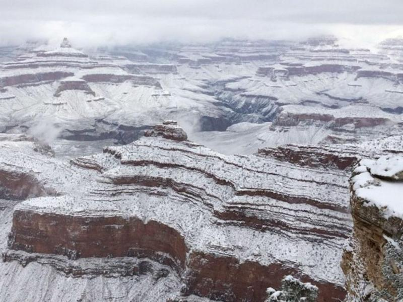 Grand Canyon com neve [Foto: instagram]