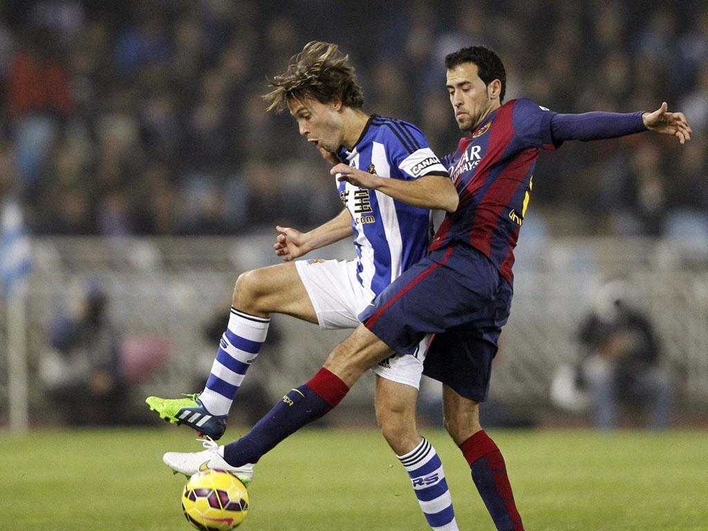 Real Sociedad-Barcelona (REUTERS/ Vincent West)