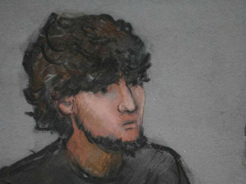 Dzhokhar Tsarnaev em tribunal [Foto: Reuters]