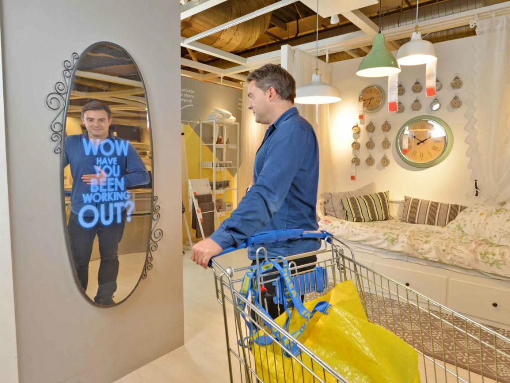 Espelho que elogia [IKEA]