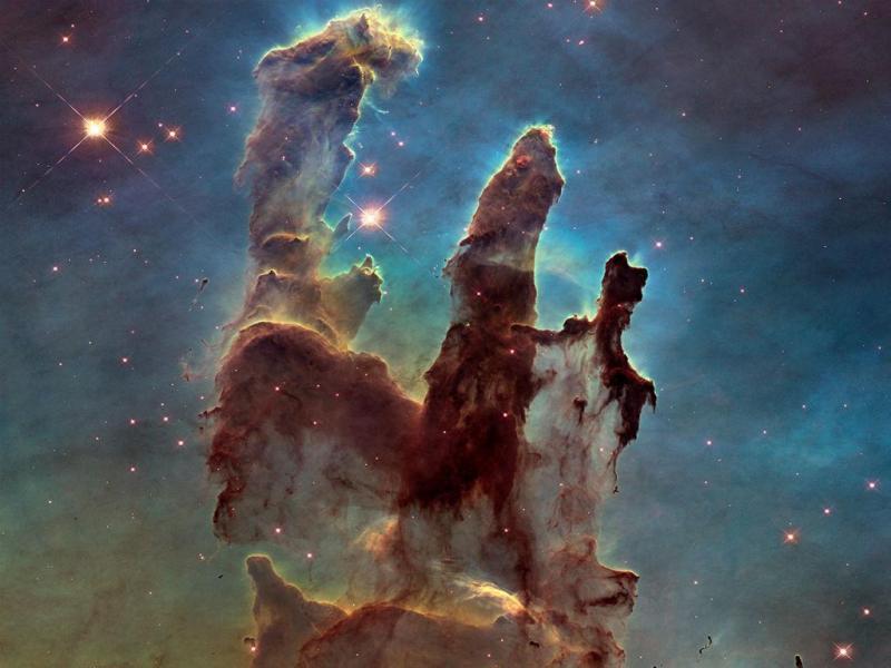 Telescópio espacial Hubble fotografa os «Pilares da Criação» (Reprodução NASA/ESA)
