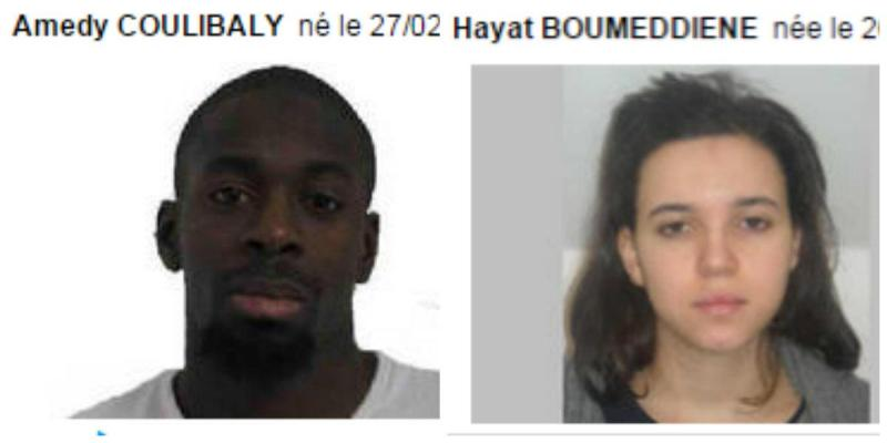 Polícia francesa pede ajuda para localizar dois suspeitos (Twitter)