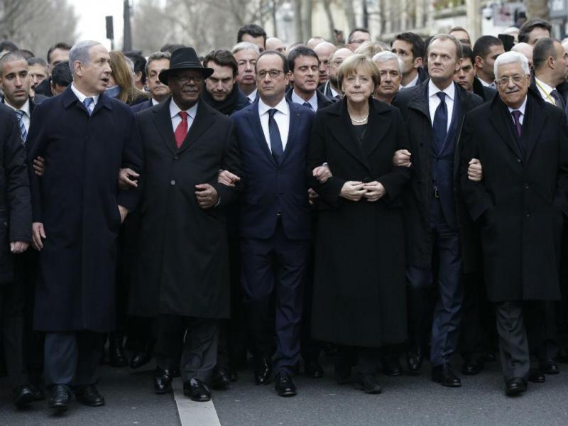 Marcha de solidariedade em Paris (Reuters)
