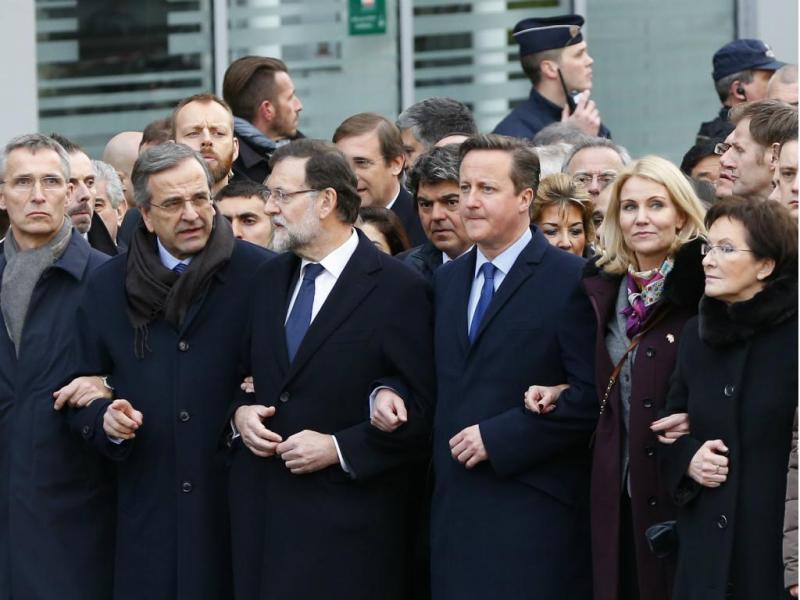 Passos Coelho participa na marcha de solidariedade em Paris (Reuters)