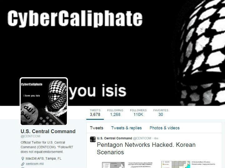 Twitter do Comando Central norte-americano terá sido alvo de um ataque informático (Twitter)