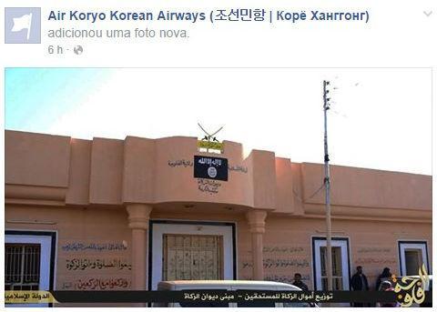 Hackers do Estado Islâmico invadem página da companhia aérea da Coreia do Norte