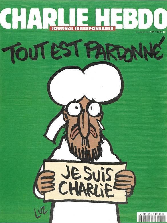 Capa do primeiro número do Charlie Hebdo após o ataque