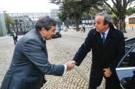 Fernando Gomes e Michel Platini no Football Talks, no Estoril (foto FPF)