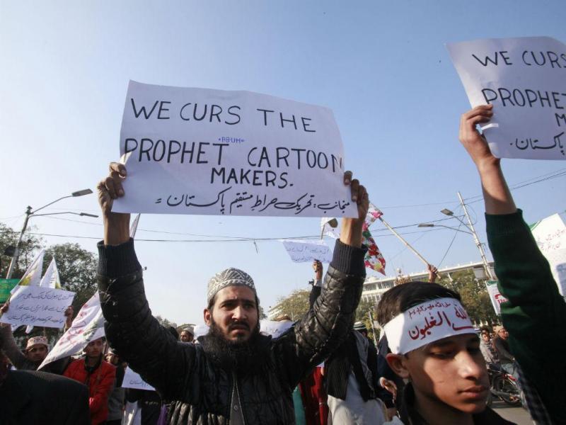 Manifestação contra «Charlie Hebdo» no Paquistão (Reuters)