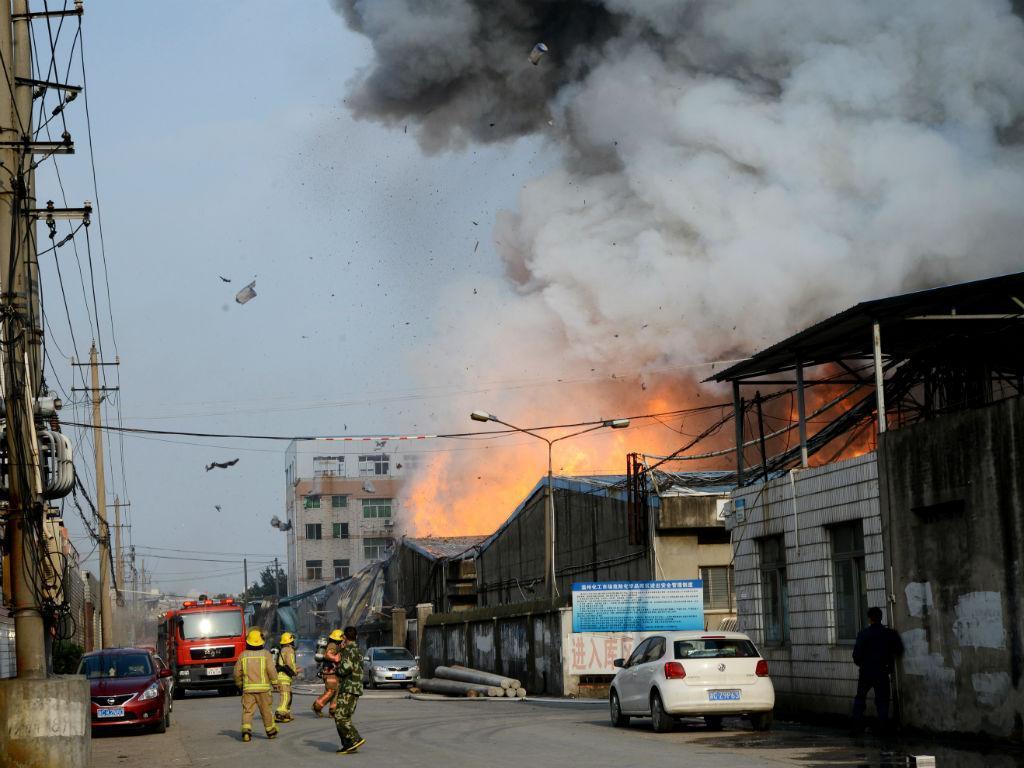 Explosão na China (Reuters)
