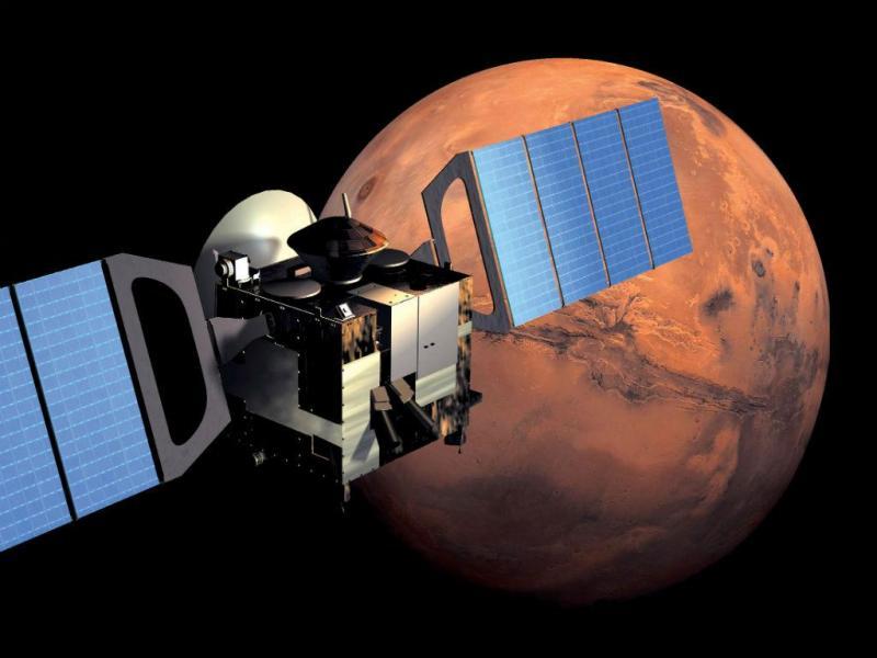Imagem de computador mostra a missão Mars Express (Reuters)