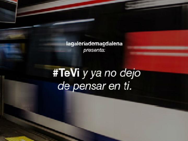 Metro de Madrid lançou iniciativa #TeVi (Twitter)