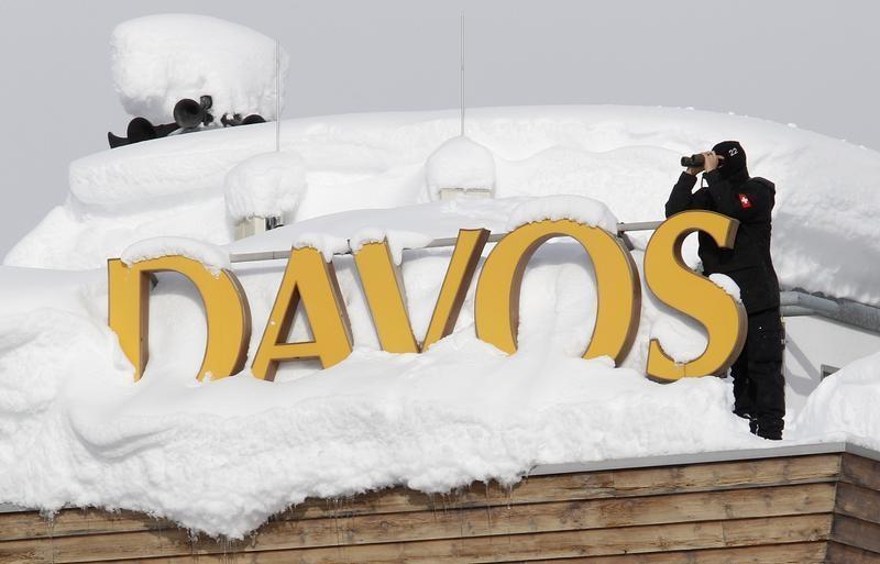 Forças especiais suíças em Davos (Reuters)