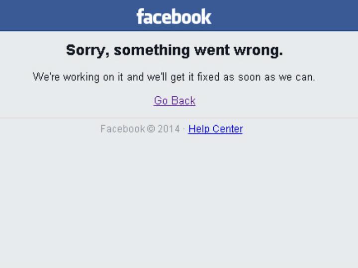 Facebook esteve «em baixo»