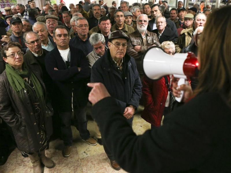 Manifestação dos reformados do Metro (LUSA)