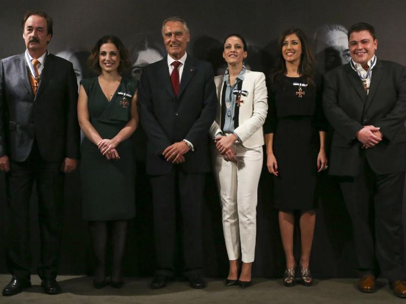 Fadistas condecorados por Cavaco Silva (LUSA)