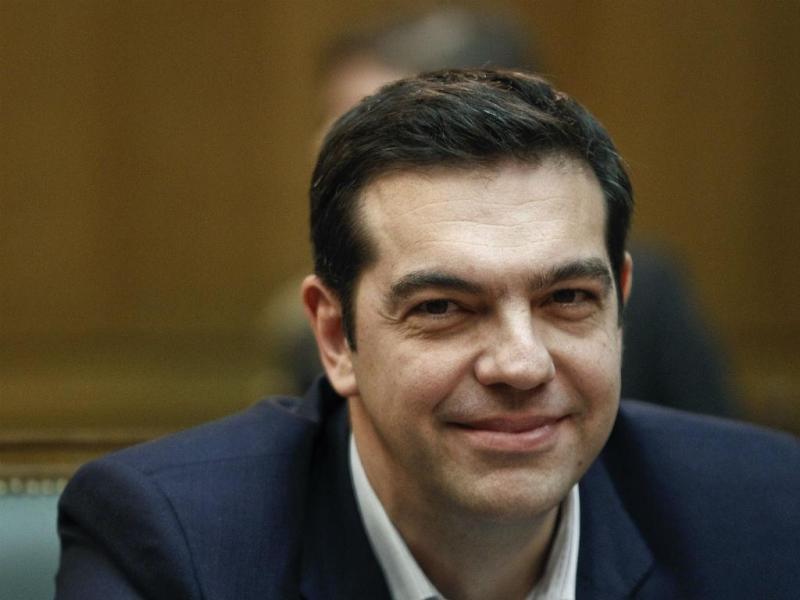 PM Alexis Tsipras na 1ª reunião do Conselho de Ministros (Reuters)