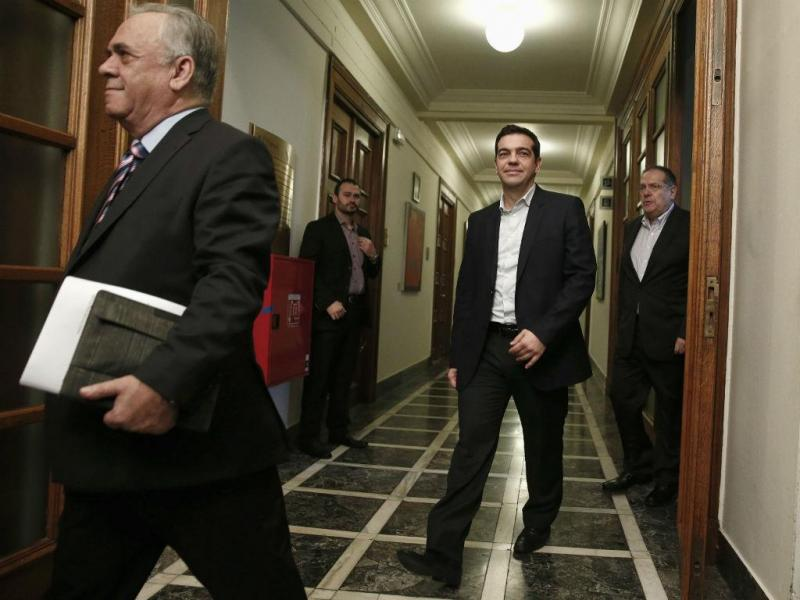 PM Alexis Tsipras com vice-primeiro-ministro Yannis Dragasakis (Reuters)