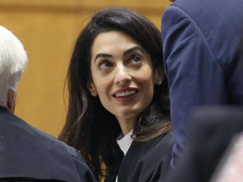 Amal Clooney no Tribunal Internacional dos Direitos Humanos (REUTERS/Vincent Kessler)