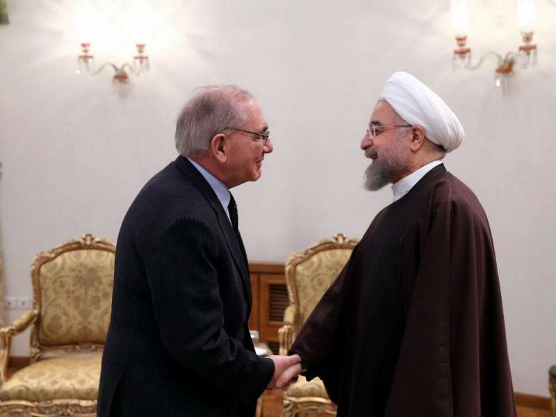 Rui Machete com o presidente do Irão, Hassan Rowhani [Foto: Lusa]
