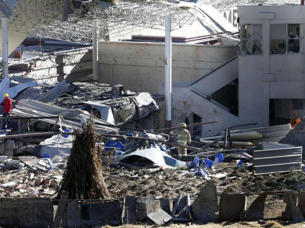 Explosão em hospital pediátrico no México [Foto: Reuters]