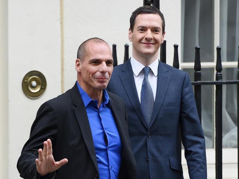 Yanis Varoufakis e George Osborne [LUSA]