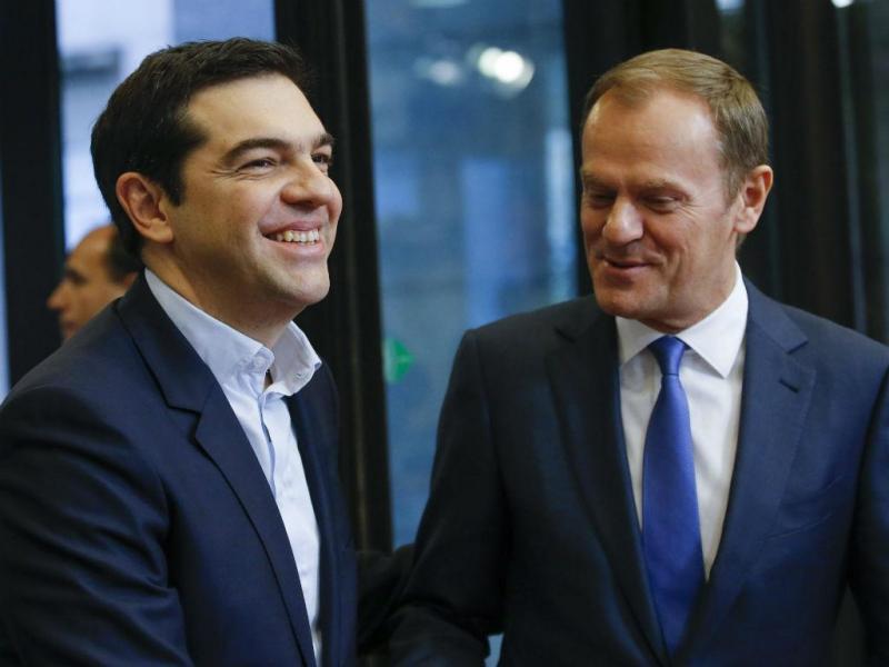 Alexis Tsipras e Donald Tusk [Foto: EPA]
