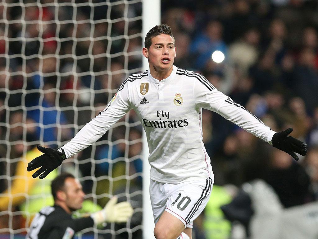 James Rodriguez: 61,3 milhões de seguidores - 15 milhões de euros faturados