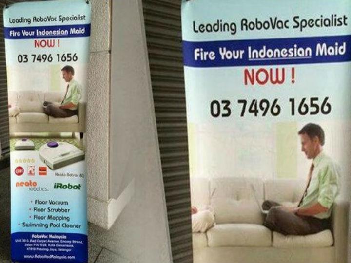 Indonésia diz que anúncio humilha empregadas (Twitter)