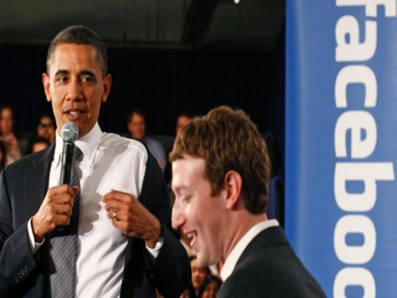 Obama e um dos fundadores do Facebook, Mark Zuckerberg (Reuters)