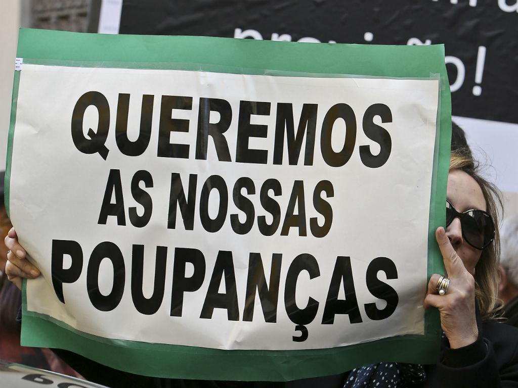 Manifestação dos lesados em papel comercial do BES (João Relvas/Lusa)
