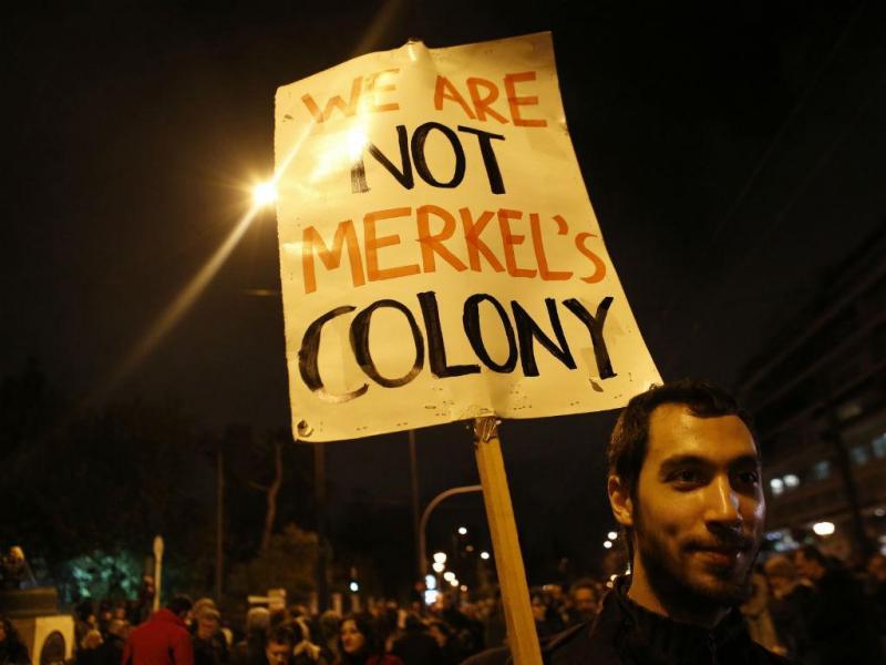 Manifestação de apoio ao governo grego em Atenas (REUTERS)