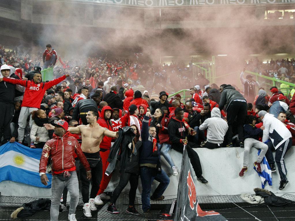 Sporting-Benfica: adeptos