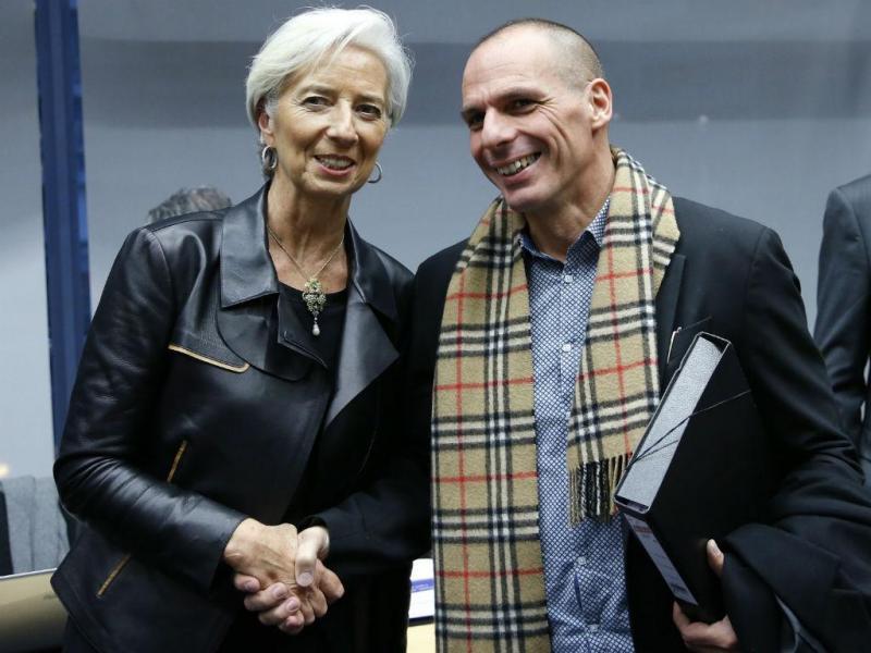 Varoufakis e Lagarde [REUTERS]