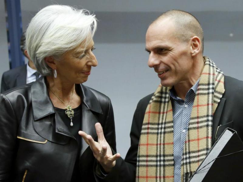 O encontro de Lagarde e Varoufakis [Reuters]