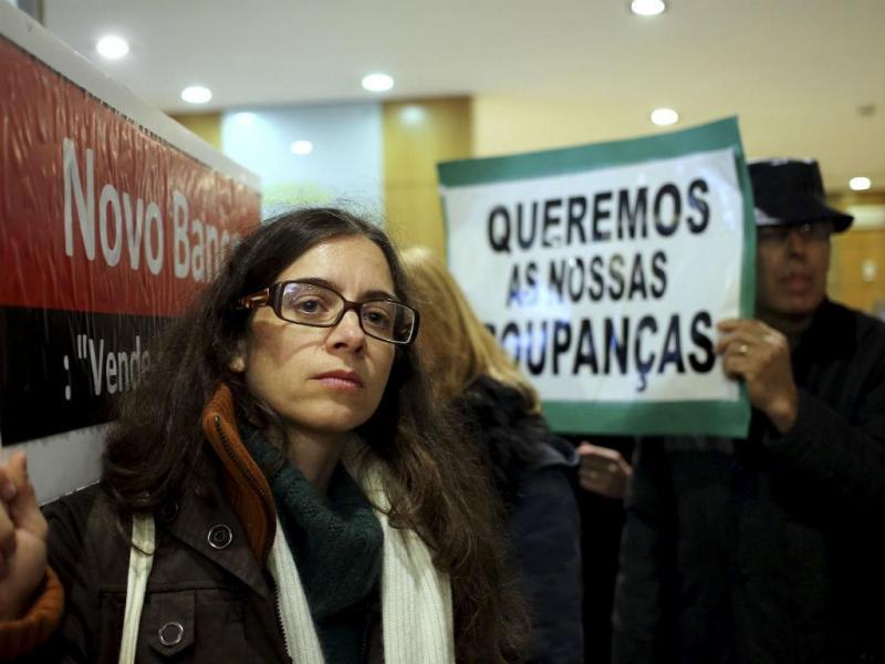 Protesto de clientes lesados do BES (ESTELA SILVA/LUSA)