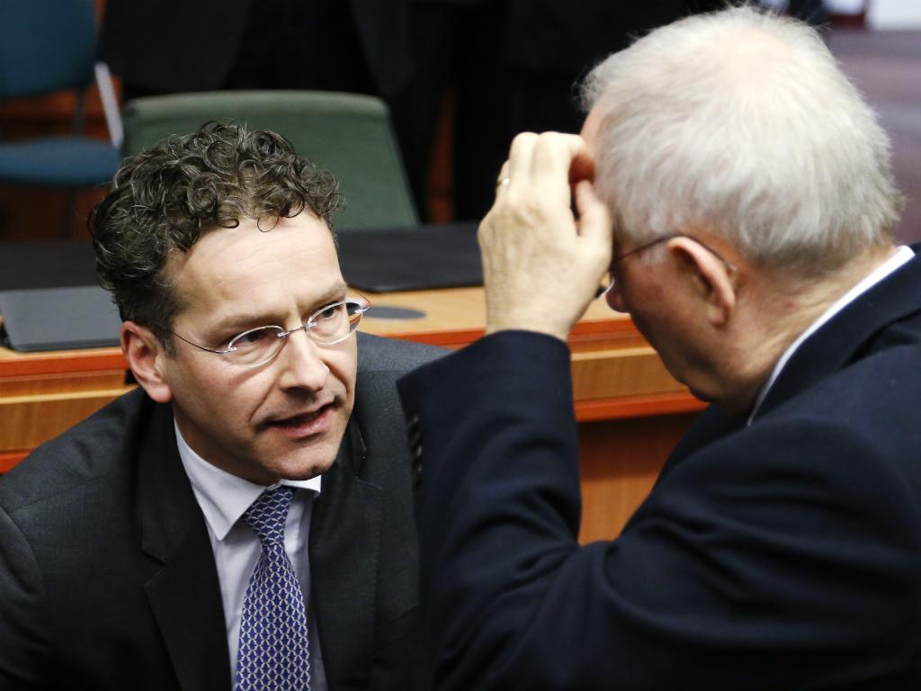 Jeroen Dijsselbloem e Wolfgang Schäuble (Reuters)