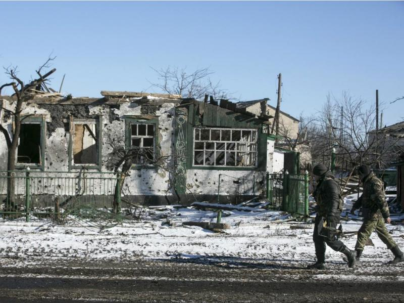 Debaltseve, na Ucrânia (Reuters)