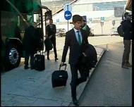 Sporting na chegada ao aeroporto de Lisboa