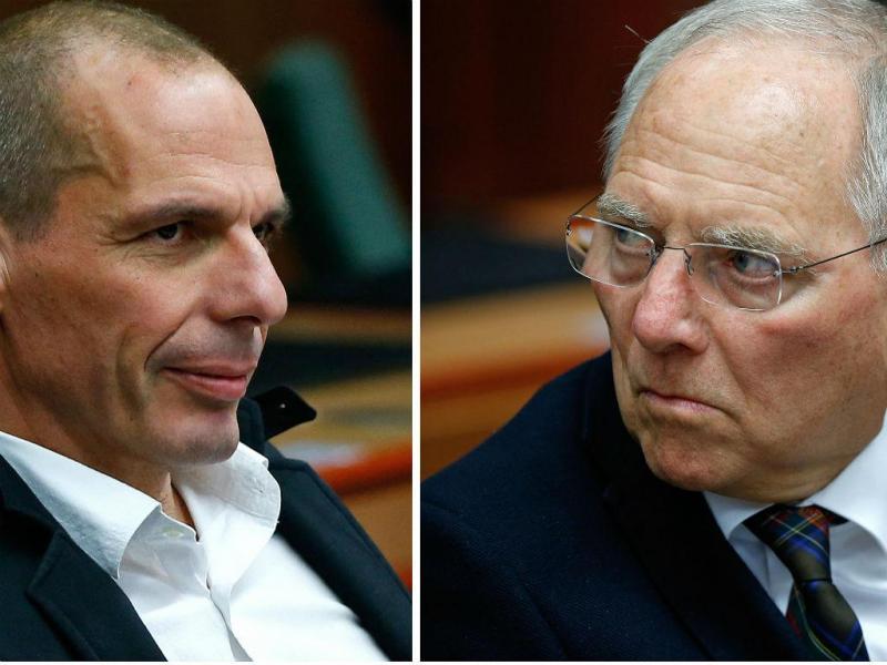 Varoufakis e Schäuble