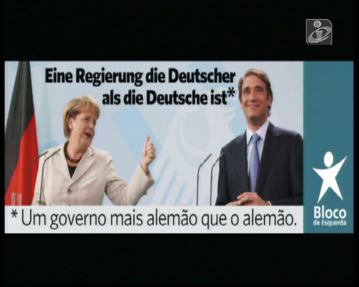 Novo cartaz do Bloco de Esquerda tem uma frase em alemão mal escrita