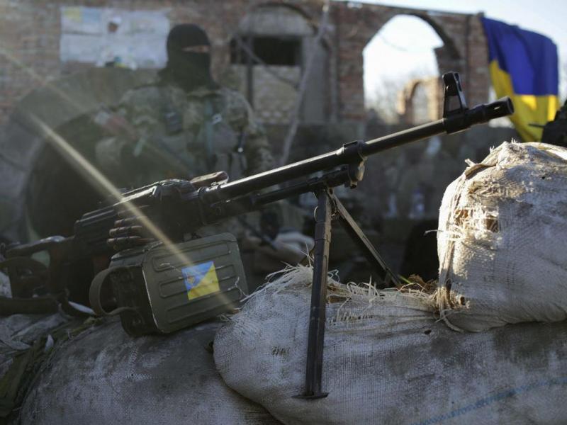 Exército ucraniano perto de Luhansk. EPA/ANASTASIA VLASOVA