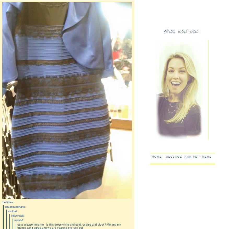 Polemica do Vestido Azul ou Dourado (Polemica Viral) Ilusão de óptica