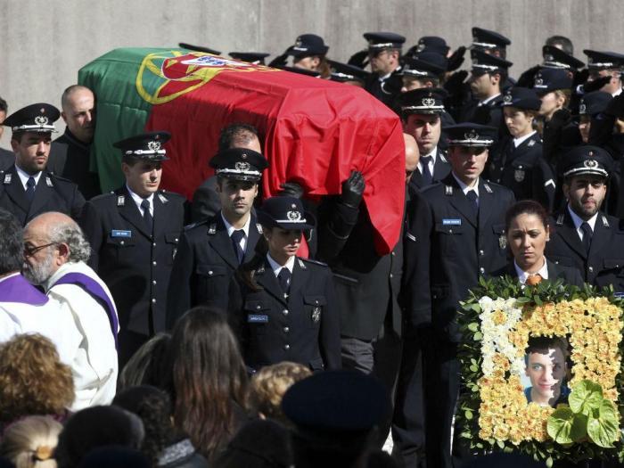 Funeral do agente Ricardo Santos em Elvas (LUSA)